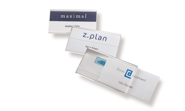 Name badges Na5 for print/write-on