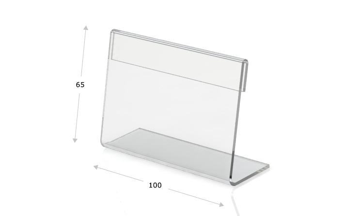 Tischaufsteller L-Form 100 x 65