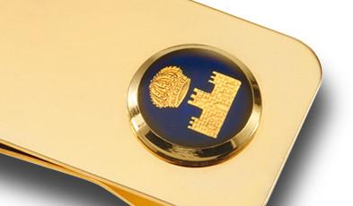 Geldscheinklammer mit Emblem