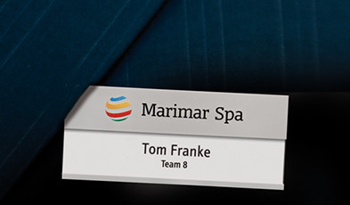 Name badges with an additional line