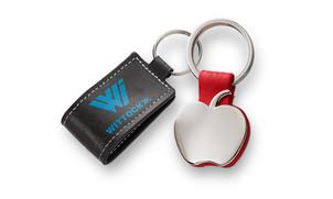 Leather or metal key rings