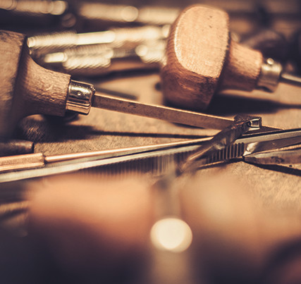 Jewellery and key rings: classical goldsmith tools
