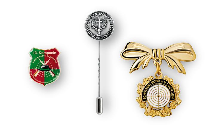 Pin badges for gun clubs