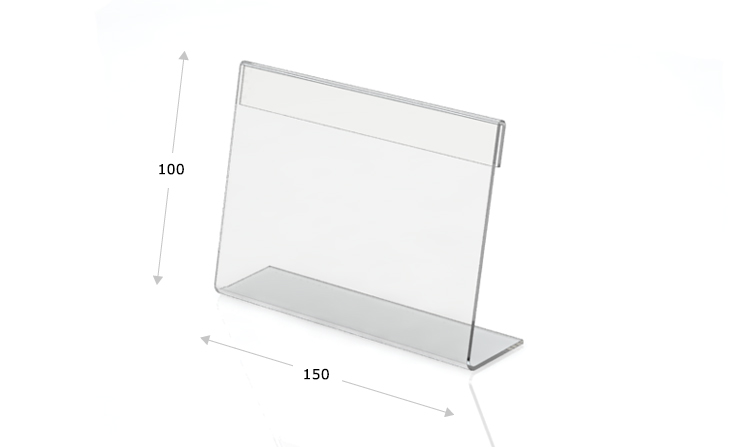 Tischaufsteller L-Form 150 x 100