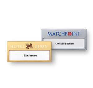 Name badges for print/write-on