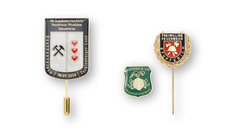 Vereinsabzeichen und Ehrennadeln für Vereinsmitglieder