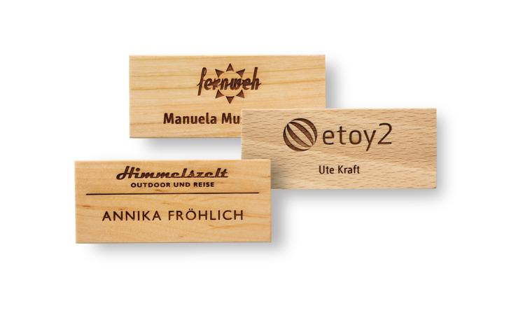 Namensschilder Aus Holz Mit Gravur