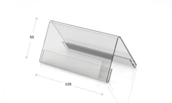 Espositori da tavolo in vetro acrilico, 120 x 55 mm