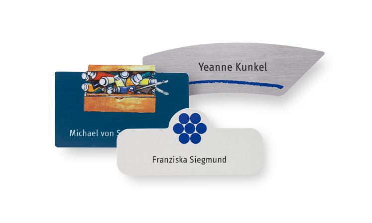 Namensschilder aus Kunststoff als Sonderform