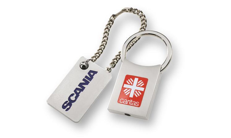 Schlüsselanhänger in Standardausführung mit Logo