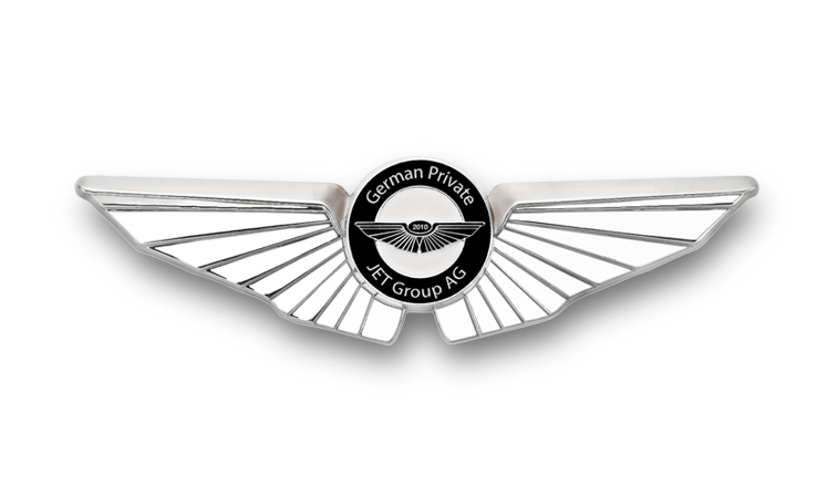 Pilot badges with embossing