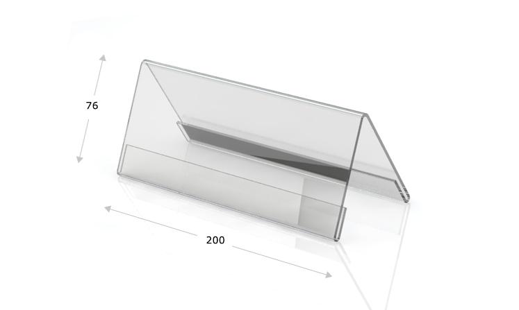 Espositori da tavolo a forma di tetto, 200 x 76 mm