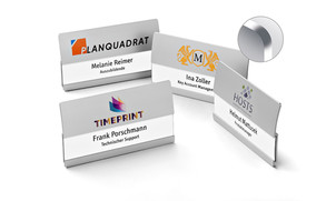 Name badges with space for two lines