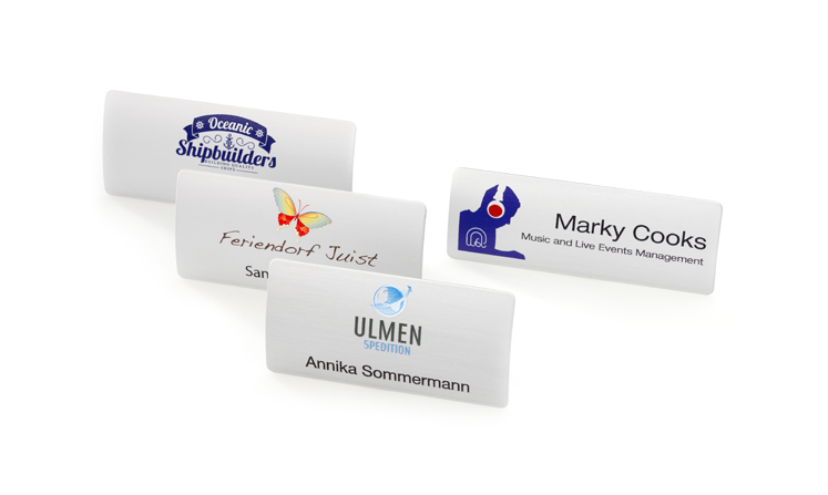 Name badges with magnet