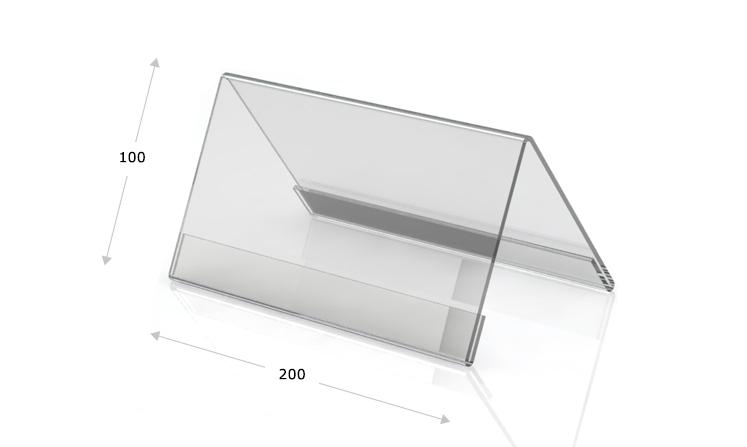 Desk plate, roof shape, 200 x 100 mm