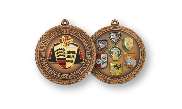 Badges with emblems