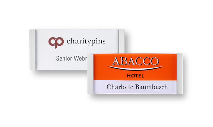 Name badges for print/write-on use