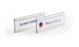 Curved name badges