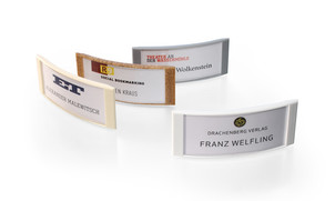 Plastic name badges to design yourself