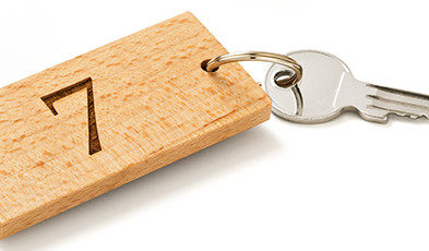 Key rings made of wood