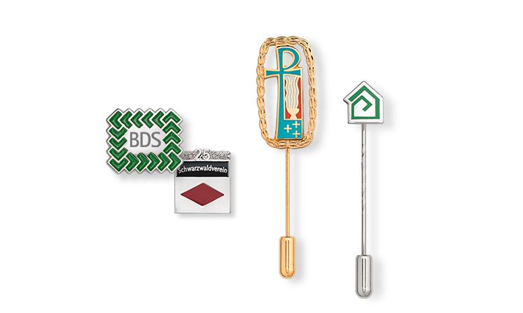 Individual lapel pins and pin badges