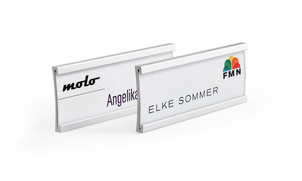 Aluminum name badges for print/write-on